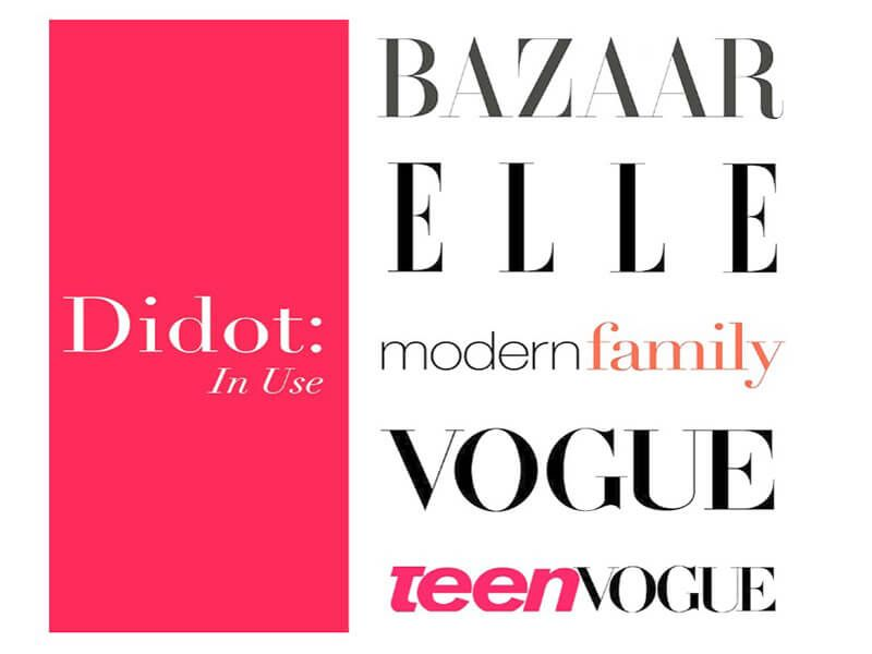 serif font untuk desain yang tradisional