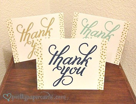 gunakan washi tape untuk thank you card