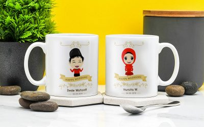 Cetak Mug Merchandise (Digital – Sablon)