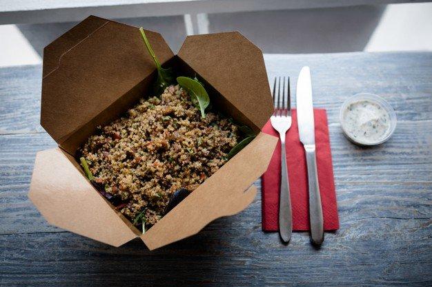 kemasan catering aman karton lunch box