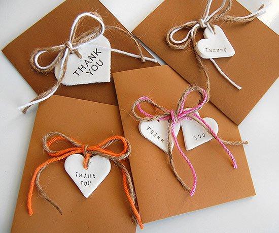 Membuat thank you card dengan tema rustic